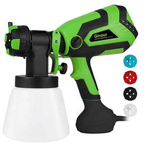 Paint Sprayer, 600W Ginour Fence Paint Sprayer with 4 Nozzle 3 Painting Modes, Viscosity 120DIN/S, Fence Sprayers with 1000ml Detachable Container, Paint Sprayers for Walls and Ceilings, Home Painting