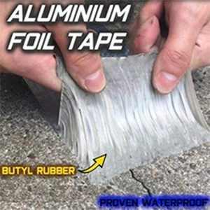 Super Waterproof Tape Butyl Rubber Aluminium Foil Tape (1.2mm5cm5m)