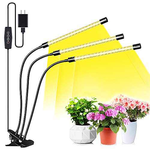 YIERBLUE Grow Light, Plant Lights for Indoor Plants,2020 Upgraded Version 45W 120 LED Bulbs,Adjustable Gooseneck,Auto ON&Off Full Spectrum Plant Lights with 3/6/12H Timer,for House Garden Hydroponics