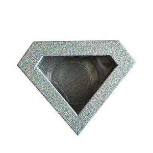 Wholesale Diamond Lash Box 6pcs Glitter 25mm Eyelash Box with Lash Holders (silver)