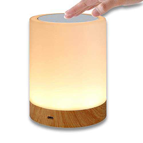 Night Light, HEDELE Touch Lamp for Bedrooms Living Room Portable Table Bedside Lamps with Rechargeable Internal Battery Dimmable Warm White Light & Color Changing RGB,Best Gifts for Baby, Kids, Adults