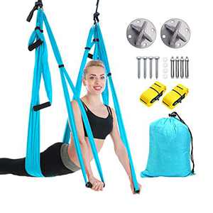 VAlinks Aerial Yoga Swing, Yoga Hammock Set Trapeze Sling Inversion Tool for Gym Home Fitness