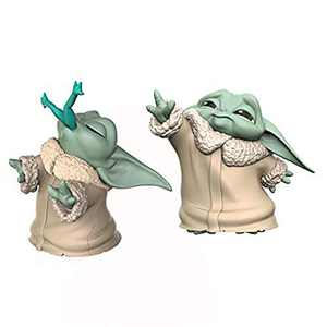 """Star Wars The Bounty Collection The Child Collectible Toys 2.2-Inch The Mandalorian """"Baby Yoda"""" Froggy Snack, Force Moment Figure 2-Pack"""