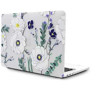 OneGET Laptop Case for MacBook Pro16 Inch Case with Touch Bar Touch ID MacBook Pro16 Inch Case 2019 Release A2141 with Retina Display Retro MacBook Pro Cases Pro16 Inch Hard Case Flowers F2