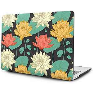 OneGET Laptop Case for MacBook Pro 16 Inch Case with Touch Bar Touch ID 2019 A2141 with Retina Display Retro MacBook Pro Cases Flowers (F7)