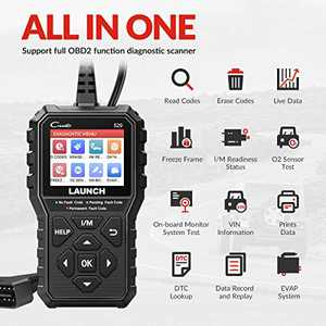 LAUNCH OBD2 Scanner, 2021 Newest CR529 Enhanced Universal Car Code Reader Auto Diagnostic Scan Tool with Full OBDII Functions DTC Lookup Check Engine Light for All OBDII Car After 1996
