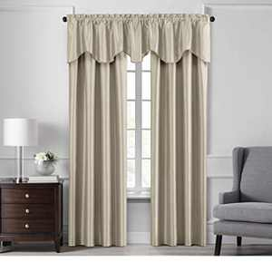 """Elrene Home Fashions Colette Faux Silk Blackout Window Curtain Panel, 52"""" x 84"""" (1, Ivory"""