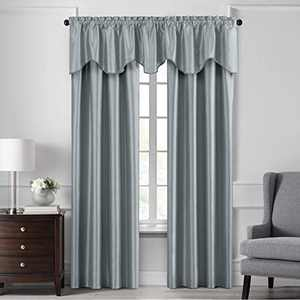 """Elrene Home Fashions Colette Faux Silk Blackout Window Curtain Panel, 52"""" x 84"""" (1, Mineral"""