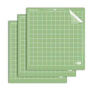 PumpkinBrother StandardGrip Cutting Mat for Cricut Explore Air 2 Maker(12x12 inch,3 Pack) Use for DIY Heat Transfer Vinyl Standard Adhesive Sticky for Crafts, Quilting, Sewing and All Arts