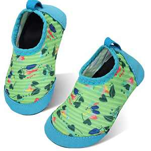 storeofbaby Infant Girls Water Shoes Quick Dry Leaf Print Blue for 0-6 Months