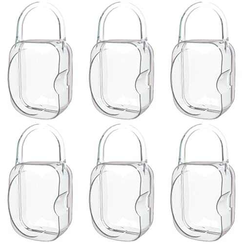LANEYLI Pacifier Case Pacifier Holder Binky Holder Case Pacifier Box for Diaper Bag Home Travel Outdoor Activities 6 Pack Transparent