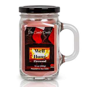 Christmas Candle- Well Hung- Funny- Firewood Scented- Mason Jar Candle- Poured in USA-