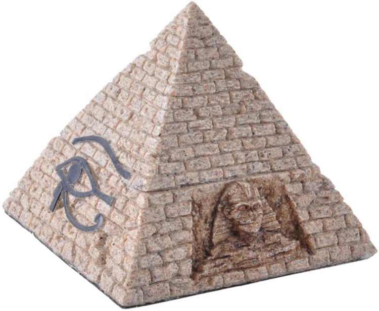 Vosarea Egyptian Pyramid Box Sandstone Box Decorative Pyramid Figurine Souvenir Ornament Home Decor for New Year Gift Jewelry Container