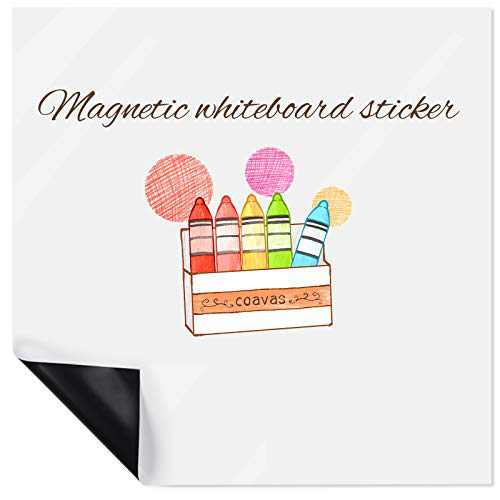 Magnetic Dry Erase White Board Sheet Online Lessons for Kids Board to-Do List Grocery Shopping and Planning Magnet Pad for Fridge 11.7 x 14.7 inches