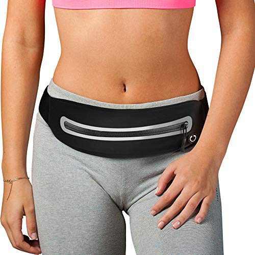 PONRAY Running Belt Fanny Packs Phone Holder Runner Pocket for Workout Fitness Walking Jogging Exercise Sport Gym for iPhone 11 Pro Max 8 Plus Samsung Galaxy S10 Men Women