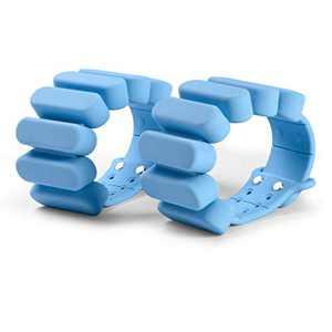 TOSAMC Durable Wrist Weights - Wearable Weight Bracelet Intensify Fitness, Exercise, Walking, Jogging, Gymnastics, Aerobics, Yoga, Gym; 2pics Set. (Blue, 2.0LB)