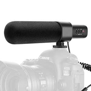 Neewer CM15 Camera Microphone Interview Microphone Compatible with Nikon/Canon/Sony/Panasonic Camera/DV Camcorder with 3.5mm Jack Electric Uni-Directional Condenser Microphone (NOT for smart phones)