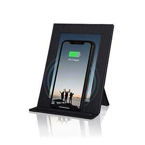 PROXA Wireless Charger Photo Frame, Qi Enabled Fast Charger Up to 7.5W for iPhone 11 /11Pro/11Pro Max/XS/XS Max/XR, 10W for Galaxy Note 10+/10/9/8/S10+/ S10e/S10-Classic Black-No AC Adapter