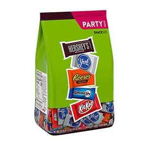 Hershey Assorted Miniatures Milk and Dark Chocolate Assortment Candy, Halloween, 33.43 oz, Party Bag (60 Pieces)