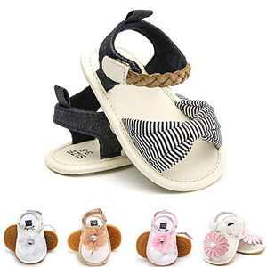 Baby Girls Toddler Infant PU Leather Summer Sandals Flower Princess Flat Bowknot First Walker Shoes