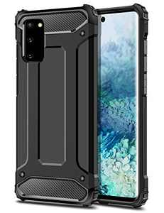 Wollony for Galaxy S20 Case for Men Protective Rugged Heavy Duty Hybrid Hard Impact Resistant Slim Phone Case Anti-Scratch Durable Cover for Galaxy S20 6.2inch Support Wireless Charging-Black