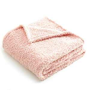Premium Sherpa Fleece Blanket, Superior Fluffy and Warmth, Exceptional Blanket as Pet Bed Cover for Small or Medium Dogs and Cats, Pink, 40 X 30 Inches