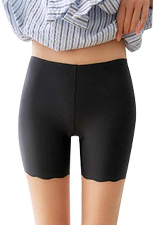 KPILP Women's Anti Chafing Underwear Long Leg Knickers Briefs Sheer Sexy Boxers Seamless Soft Ice Silk Slip Short Panties Ladies Short Pants Under Dress Wear