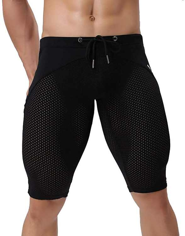 KPILP Men Hawaiian Trunks Quick Dry Surfing Running Swimming Pant Breathable Active Gym Shorts for Workout Training Jogging