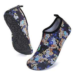 UBFEN Mens Womens Water Shoes Aqua Socks Quick Dry Barefoot Shoes for Yoga Swim Surf Pool Beach Walking Exercise, 38-39(EU), 7.5-8.5 Women/6.5-7.5 Men