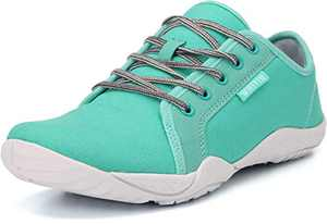 WHITIN Men's Canvas Barefoot Sneakers | Wide fit | Arch Support | Zero Drop Sole Minimus Size 10 Casual Minimalist Tennis Shoe Fashion Walking Flat Lightweight Comfortable Driving Male Light Blue 43