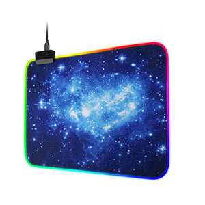AZFUNN RGB Gaming Mouse Pad with 14 Lighting Modes, LED Mouse Pad of Starry Sky Pattern (13.78×9.84 in)