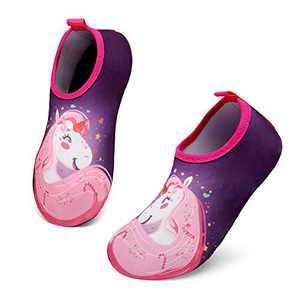 UBFEN Kids Water Shoes Aqua Socks Quick Dry Anti Slip Water Skin Barefoot Sports Swimming Beach Pool for Toddler Boys Girls