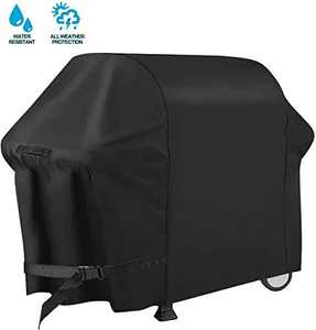 PATIOPTION BBQ Grill Cover, 72inch Heavy Duty Barbeque Gas Cover 600D Waterproof No Fading Smoker Covers, for Weber,Char Broil, Holland, Jenn Air, Brinkmann (UV/Dust/Weather Resistant/Rip Resistant)