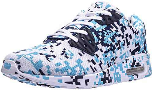 WHITIN Men's Camo Tennis Shoes Walking Casual Fashion Retro Lifestyle Sneakers Fitness Gym Workout Comfortable Lightweight Breathable Male Camouflage Blue Size 13