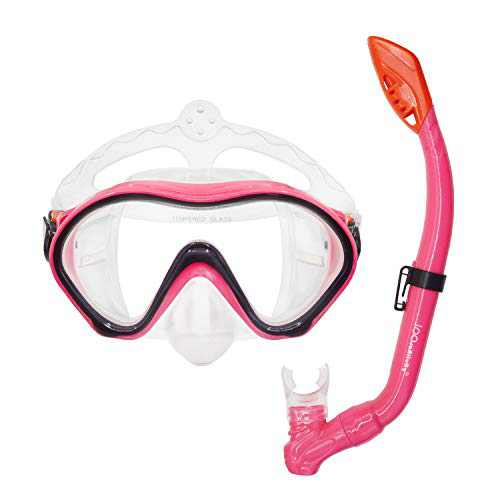 iParaAiluRy Kids Snorkel Set - Anti-Fog Snorkel Mask with Dry Top Snorkel and Soft Mouthpiece - Professional Diving Snorkeling Gear for Childs Age 4-12