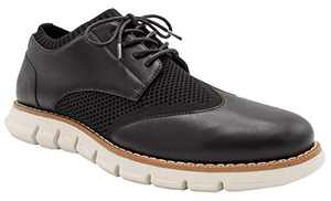 NINE WEST Mens Wingtip Shoes | Casual Dress Shoes for Men | Lightweight Lace Up Mens Oxford Shoes | Fashion Shoes for Men with Deep Grooves in Outsole Mimics Natural Motion of Foot - Keon Black-10.5