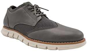 NINE WEST Mens Wingtip Shoes   Casual Dress Shoes for Men   Lightweight Lace Up Mens Oxford Shoes   Fashion Shoes for Men with Deep Grooves in Outsole Mimics Natural Motion of Foot - Keon Grey-13