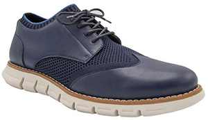 NINE WEST Mens Wingtip Shoes | Casual Dress Shoes for Men | Lightweight Lace Up Mens Oxford Shoes | Fashion Shoes for Men with Deep Grooves in Outsole Mimics Natural Motion of Foot - Keon Navy-13