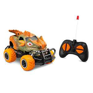 RC Toys for 4-5 Year Old Boys Dinosaur Remote Control Cars, Mini Dino Cars for Kids Toys Age 3-6 RC Race Trucks, 2021 Monster Truck for Toddlers Birthday Gifts (Orange)