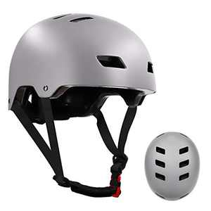 Skateboard Helmet for Kids Youth & Adults with Two Removable Liners for Multi-Sport Scooter Roller Skate Inline Skating Rollerblading