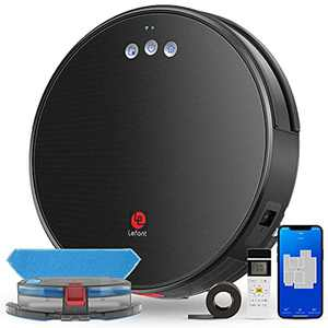 Lefant Robot Vacuum Cleaner with Mop, Robotic Vacuum, 2200Pa Suction, Self-Charging, Works with Google/Alexa/Wi-Fi, Quiet, Slim, Perfect for Pet Hairs, Snacks, Hard Floors, Low Pile Carpet T700
