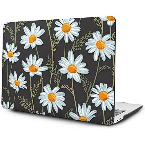 OneGET MacBook Pro 13 Inch Case with Touch Bar Laptop Case MacBook Pro13 2016-2019 Release A2159 A1989 A1706 A1708 Pro Cover for Fashion MacBook Pro Case 13 Hard Shell White Daisies (F13)