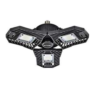 Retinabc, Black, LED Ceiling Lights Deformable 60W 6000LM 6000K for Garage (No Motion Activated) …