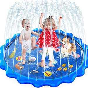 MOZOOSON Splash Pad for Kids Sprinkler Outdoor Inflatable Water Toys for Toddler Kids 3 Year Old, Slip n Slide for Girls Boys ,Outside Wading Pool for Learning Toys