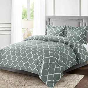 Shatex Twin Comforter Bed Set 2 Pieces Geometric Pattern Printed Comforter Sets – Ultra Soft 100% Microfiber Polyester – Rio Comforter with 1 Pillow Sham