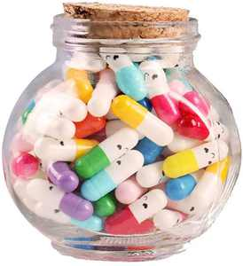 Vosarea Capsule Letters Message in a Bottle Glass Favor Bottle Half Color Pill for Valentines Day Birthday