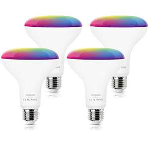 Smart Light Bulb, KHSUIN Smart Bulbs That Work with Alexa & Google Home, 9W 800LM, E26 Base, RGBCW Color Changing Light Bulb, No Hub Required - 4 Pack