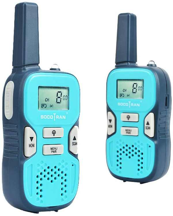 SOCOTRAN Walkie Talkies for Kids, 8 Channels Two Way Radio 3km Long Range Talking with VOX LED Flashlight, PMR446 Kids Walky Talky USB-Charging for Boys & Girls Outdoor Camping Hiking