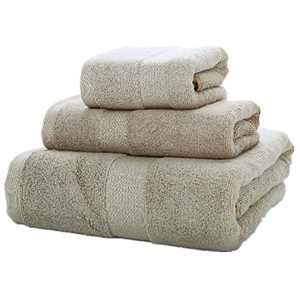 Amineders Luxury Ultra Soft Bamboo 3-Piece Washcloth Towel Set-Soft Absorbent and Eco-Friendly Skin Friendly for Bathroom Hotel Spa Kitchen Face Cloths (Thick Brown)