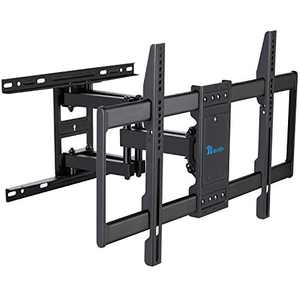 "RENTLIV TV Mount Full Motion with Articulating Arms for 37-70 inch Flat Curved Screen LED 4K TVs, Tilt Swivel Rotation TV Wall Mounts TV Bracket with Max VESA 600x400mm ,Fits 8"" 16"" Wood Studs"